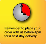 Remember to place your order with us before 4pm for a next day delivery